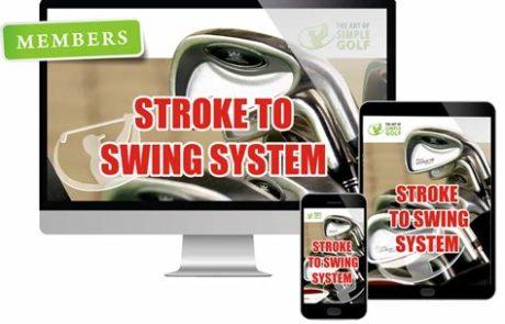 stroke to swing golf
