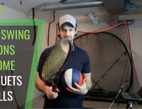 GOLF SWING IMPACT DRILLS WITH RACQUETS AND BALLS CONSISTENCY