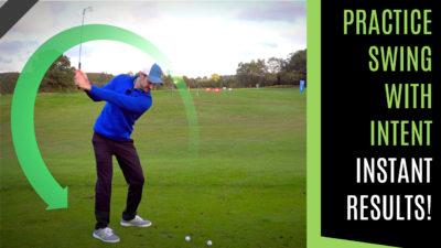 golf swing practice swing