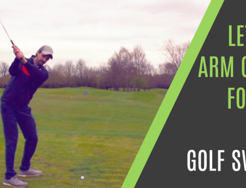 LET THE ARM GLIDE FOR AN EASY GOLF SWING