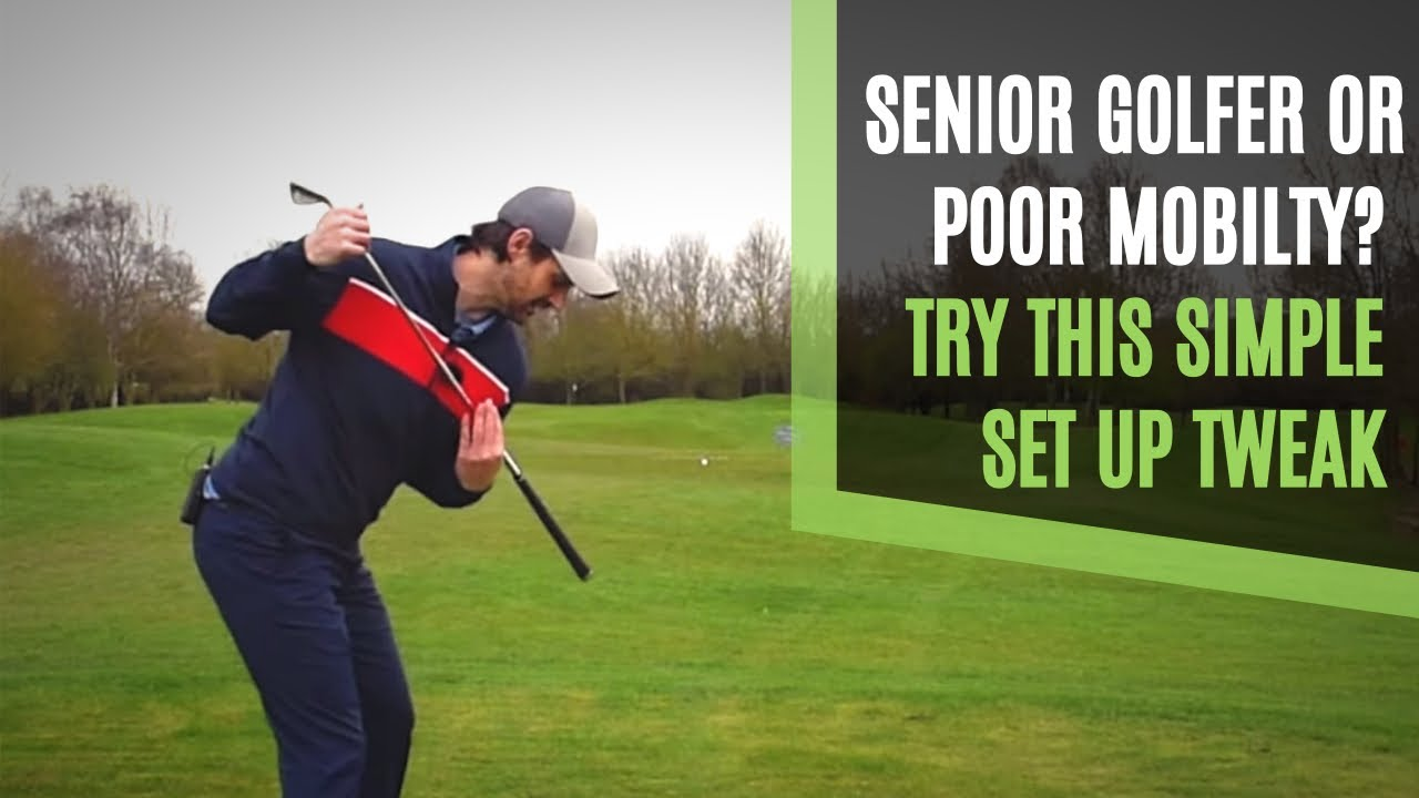 senior golf swing set up