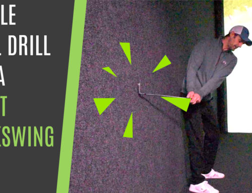 BACKSWING AND TRANSITION WALL DRILL FOR CONSISTENT PLANE AND FLOW