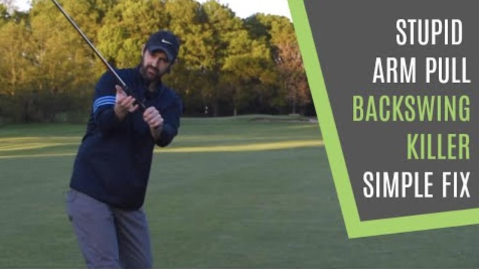 backswing right arm golf