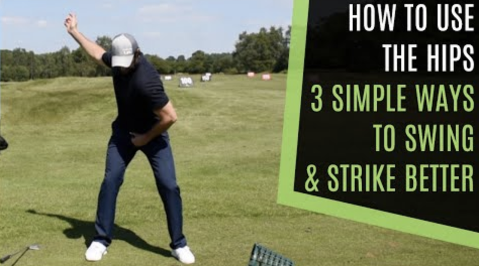 Rotate the hips in the golf swing