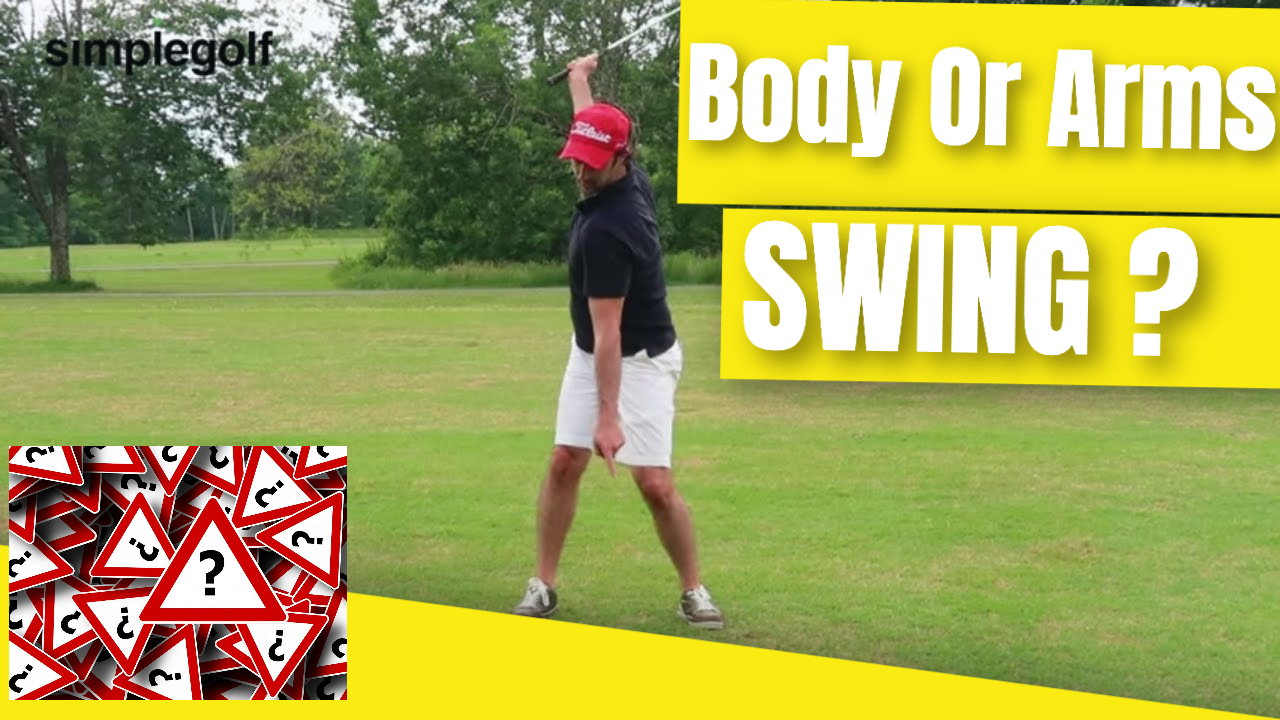 body and arms golf swing connection