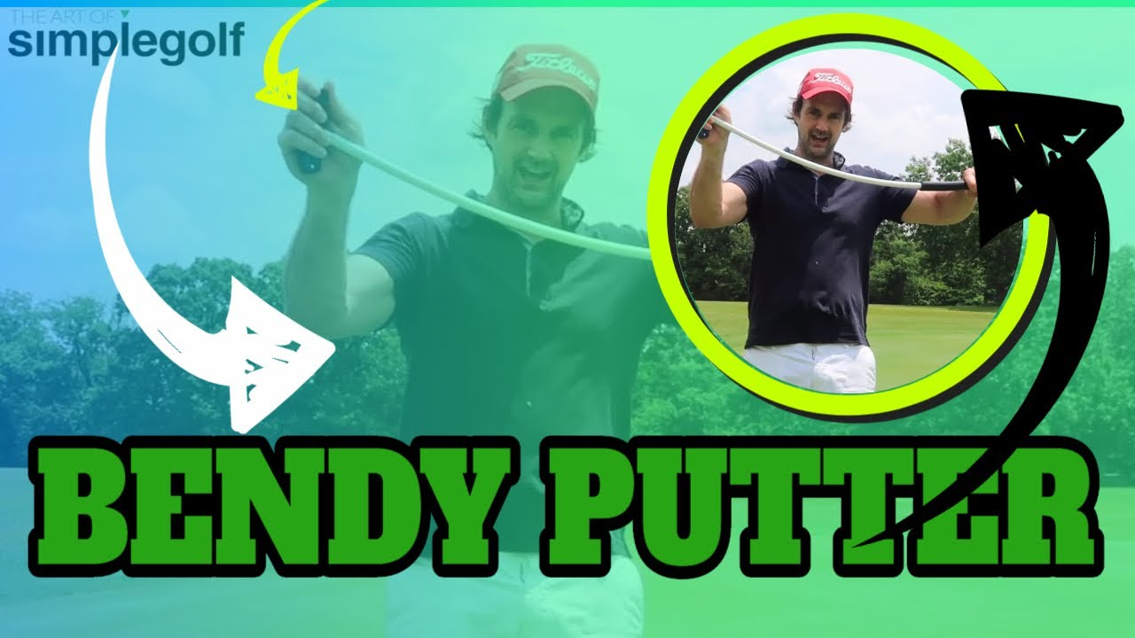 bendy putter training aid