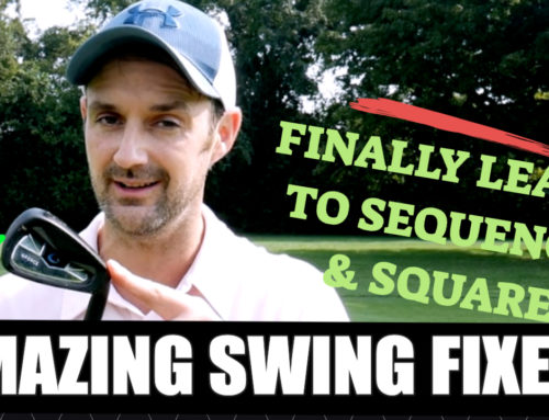Golf swing sequence and tempo with G-force training aid