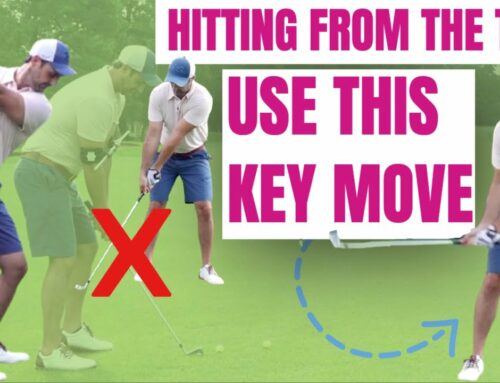 Stop Hitting From The Top And Ruining Your Swing Sequence This Key Simple Move Fixes it!