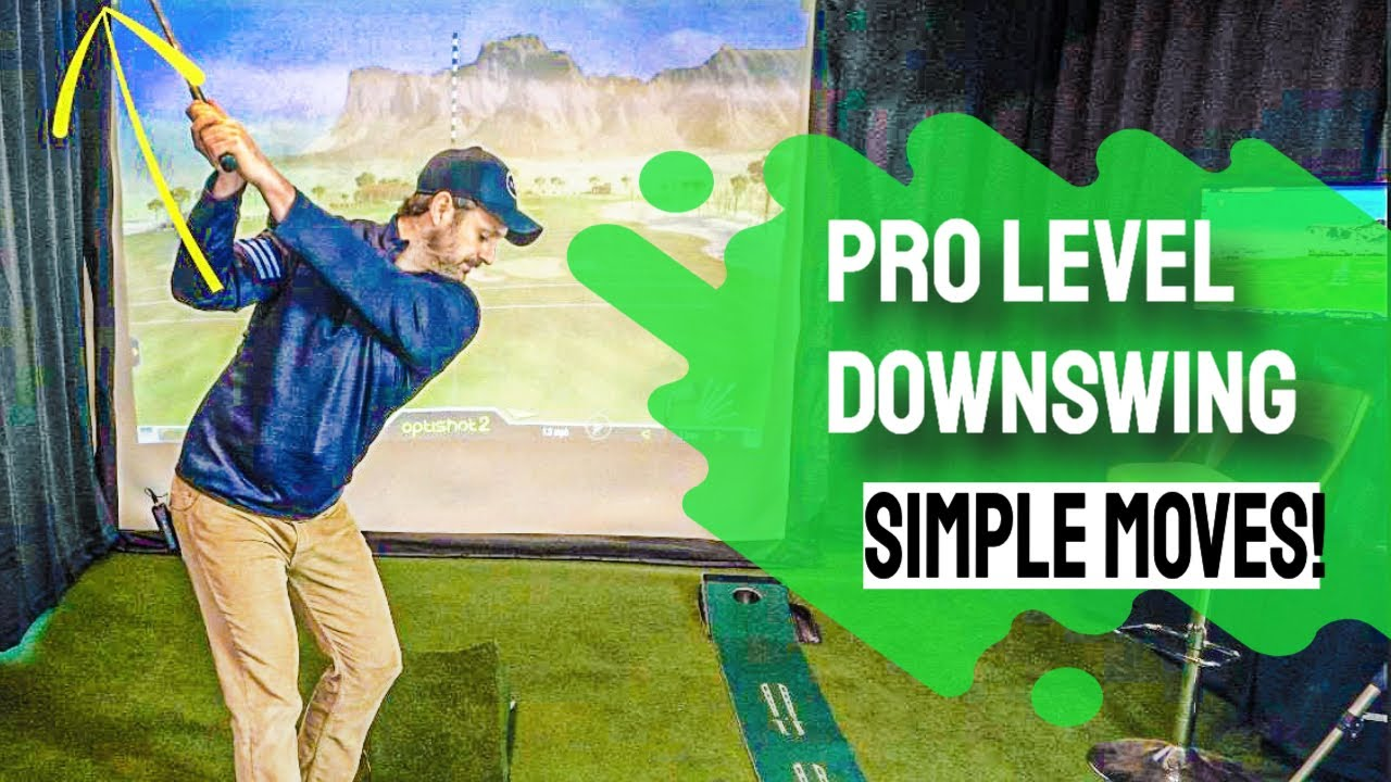 Golf swing downswing