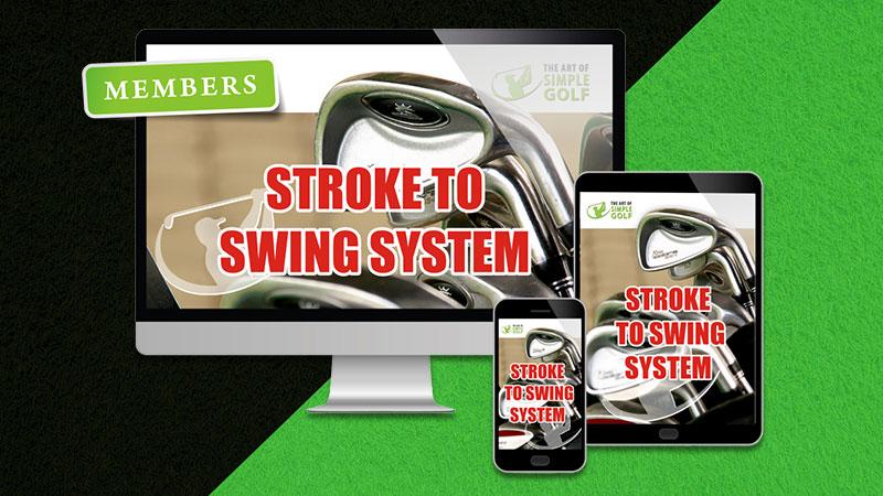 stroke to swing golf swing
