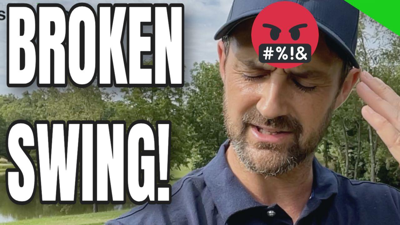 broken golf swing