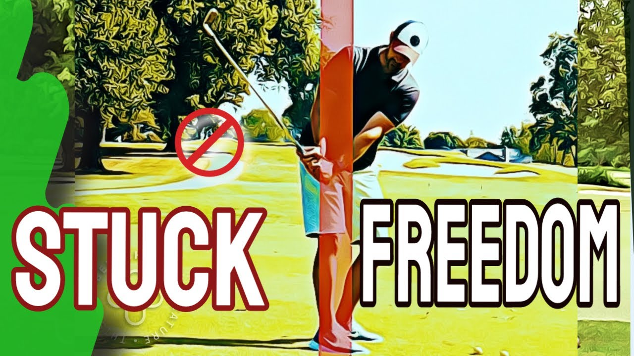 Easy Way To STOP GETTING STUCK In Golf Swing And Pulling Arms Inside | Get Arms In Front